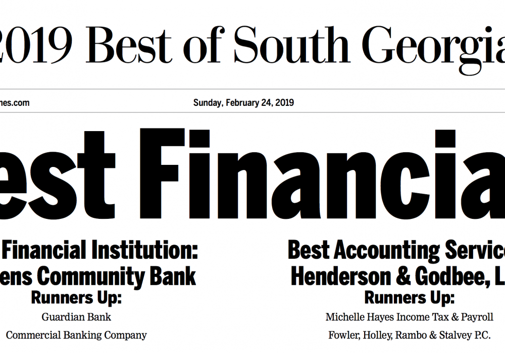 Best Bank in Valdosta … and Not Just Cause I'm Sayin' It